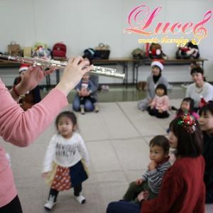 明日からリトミックレッスンにてクリスマス会・フルートミニコンサート♪ 姫路市網干市民センター教室