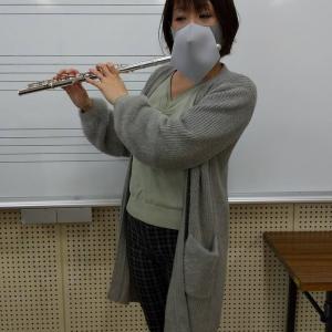 フルート用のマスクにて、フルート&ピアノミニコンサートが来週から始まります!姫路市リトミック教室