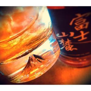 富士山麓、偶然富士山グラス付きを発見!(^^)!Lucky!