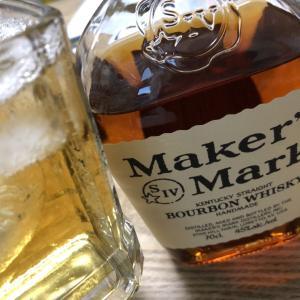 Maker's Markのバーボンソーダーぐいぐい飲んでしまいす( ^^) _
