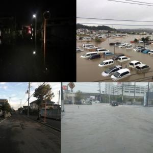 千葉大雨 冠水道路に突っ込みエンスト 手押し脱出・再起動・掃除整備 キャビーナ90