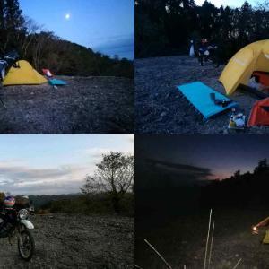 富津の林道でソロキャンプ中 (現地投稿)