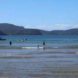 NZの夏休みの定番、家族でキャンプ