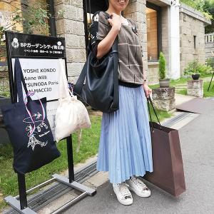 POP-UPストア 小柄なお客様のロングスカートファッション