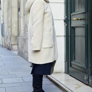 LENERのコートとAnneの予約品のコーディネート
