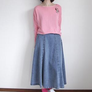 自宅カジュアルならデニムスカートはいかがでしょうか
