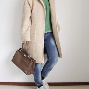 名古屋POP-UP フードが付いたコートで真冬が待ち遠しい