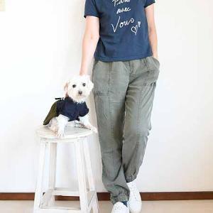 Tシャツカジュアルスタイルの親子コーディネート