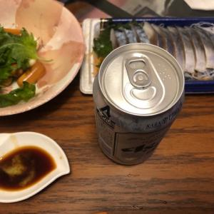 久しぶりのビールと刺身(11月18日)