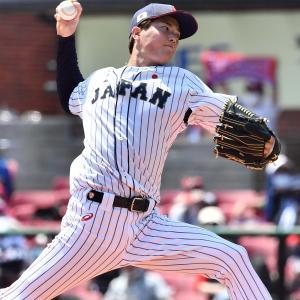 侍ジャパン森下、デビュー戦は2回1失点「ボールの違いは気にならなかった」