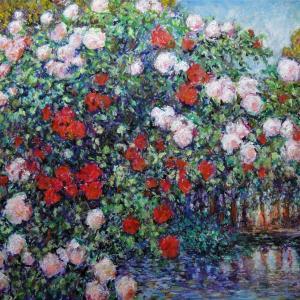 さんえい画廊・今月の作品「秋のバラ」