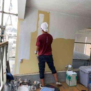 外壁塗モルタル塗装は完了しました