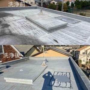 屋上のウレタン防水の塗り替え