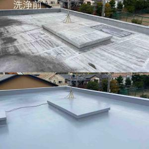 屋上のウレタン防水塗り替え完了!