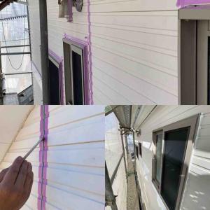屋根とシーリング作業