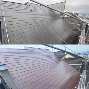 屋根の塗装が終わりました。