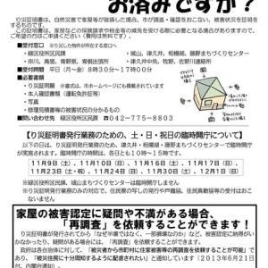 家屋被害認定に納得いかない場合は「再調査」を依頼できます! ―― 台風19号被災者支援ニュース第2号