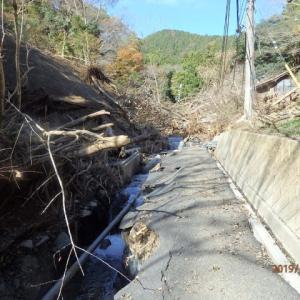 台風19号の被害状況調査で、相模湖地区の小原・底沢地区へ