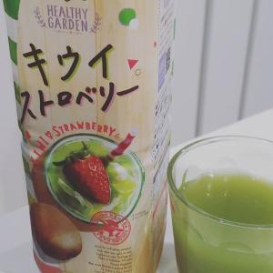 結構飲みやすくて美味しい!ストロベリージュースの甘さの次にキウイの酸味かな〜。#デルモンテ #キウイストロベリー