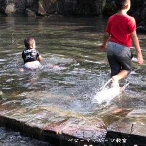 じゃぶじゃぶ池にオムツで入ったらすごいことになった。やらかした旦那の巻き♪