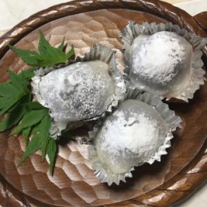 中秋の名月にフルーツ饅頭(^^)