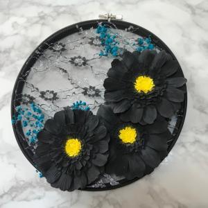 カレイドフレーム2 ブラックガーベラ  &お花見