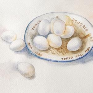 「白を表現する」…、卵を描いてみた