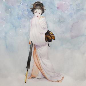 人間国宝 玉三郎『雪』を描く