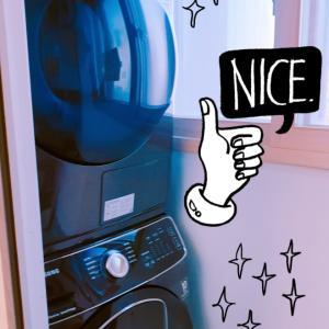 洗濯機&乾燥機がやってきた!