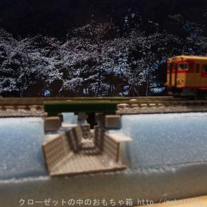 TOMIX トラフガーター橋を使った車両撮影用ジオラマ作成