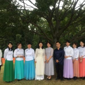 大阪万博記念公園「花の丘」にてコンサートでした