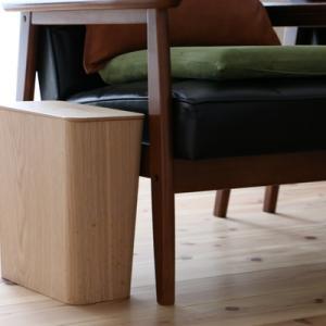 無印の木製ワイヤー付きゴミ箱は存在感が軽めですごく便利♪
