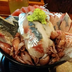 グルメライド(GW一回目、回復走、あやみ屋、大漁刺身のっけ丼、めっちゃ凄い海鮮丼、クレープ)