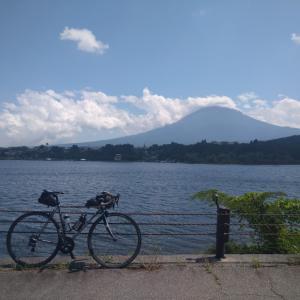 山中湖~花の都公園~二十曲峠~河口湖ポタ(吉田のうどん、まるごとピーチ)