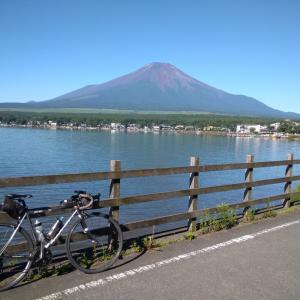 山中湖~林道西川新倉線~河口湖~西湖ポタ(富士山、吉田のうどん、桃)