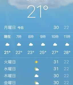 激変な暑さ