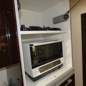 家電収納に棚板を追加