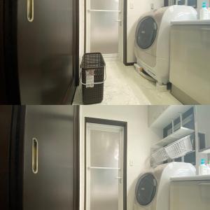 洗面脱衣室にランドリーラックを設置