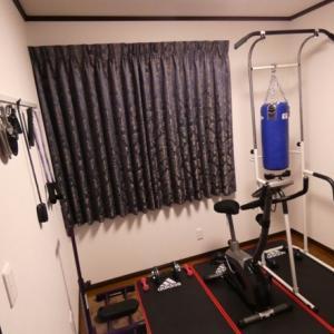 トレーニングルーム化した洋室
