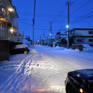 おそい積雪