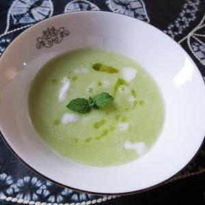 メロン冷製スープ