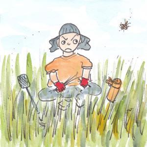 草と蜂とオイラ