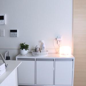 インテリア性ゼロにする洗面台の説明書シールをアレで隠す&アメトピ感謝♡