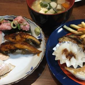 回転寿司お持ち帰り〜♪