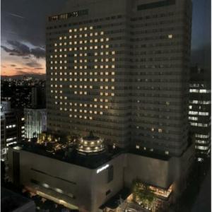 ◆ホテルメトロポリタンでライトアップ 「前向きに笑顔を忘れずに」とスマイル模様に!