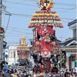 ◆花山車、2年ぶり練る 高岡・伏木曳山祭 7基、威勢良く 「けんか山」実施せず! 喧嘩させコロナを飛ばせ