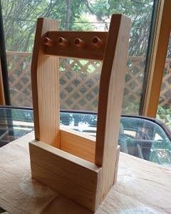 木工の鍵ハンガー