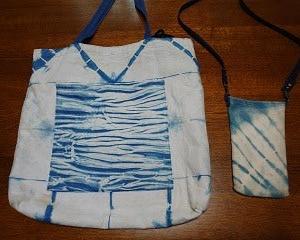 藍染バッグをリフォーム