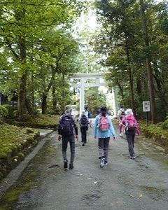 雄山神社と常西用水ウォークに参加