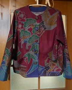 大漁旗模様のジャケット
